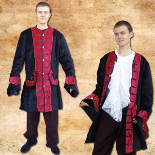 Pirate frock-coat made from real cotton velvet