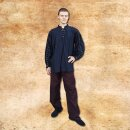 Hose aus sehr weichem Baumwollstoff - L, schwarz