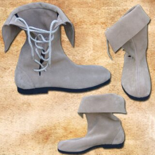 Boots, sand-coloured - 40