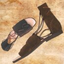Authentic Roman Sandals made from velours leather - 43, black