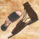 Authentische Römersandalen aus Veloursleder - 46, schwarz