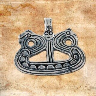 Drachenbootamulett 15 - Silber