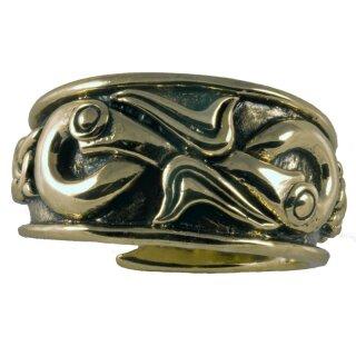 Wikingerring 26, verstellbar - 52-60 Bronze