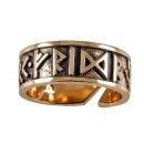 Runenring 28, verstellbar - 60-70 Bronze