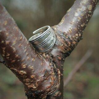 Gotlandring 23, verstellbar - 60-70 Silber
