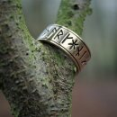 Rune Ring 25, adjustable - 60-70 silver