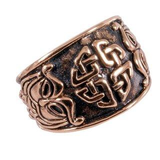 Celtic Ring 14, adjustable - 60-70 bronze