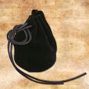 Leather pouch, large - black