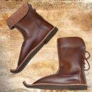 Boots with upward-bent tip - 37, Nubuk brown