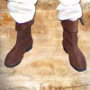 Cuff Boots with rubber soles, Velours, 45, brown