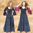 Dress June, cotton velvet with lace and embroidery