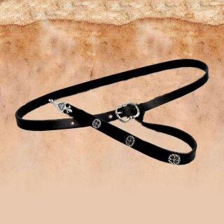 Medieval Belt 2 cm, end + rivets