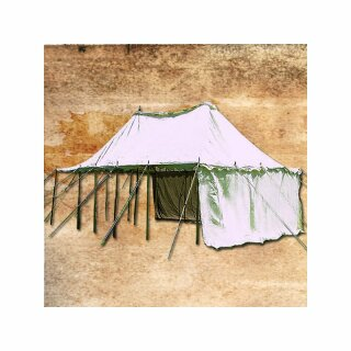 Two Mast Tent Constantine 6 x 4 m with wooden tentframe