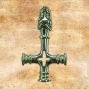Pendant Wolf Cross, XL - silver