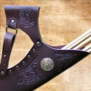 Celtic Hunting Quiver, adjustable - dark brown