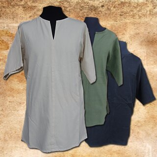 Tunika aus handgewebter Baumwolle - XL, natur