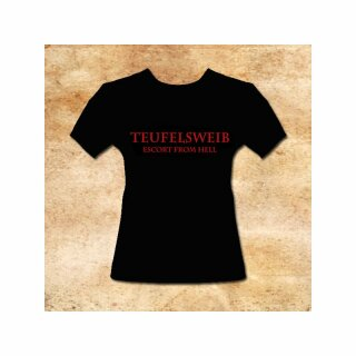 Girlie-Shirt Teufelsweib - Escort from Hell - S