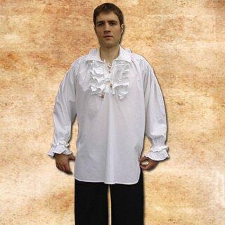 Rüschenhemd aus Baumwolle - XL, weiß