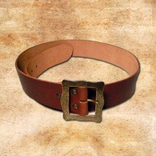 Lansquenet Belt, 5 cm - brown, S, bronze