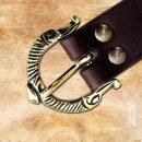 Viking Belt, 3 cm - black, bronze, without end piece