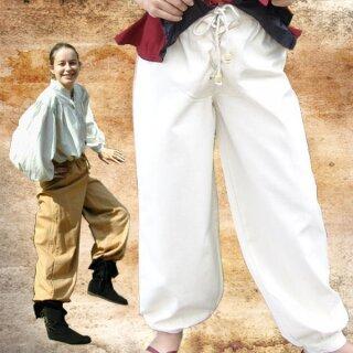 Bundhose aus Baumwolle, hinten Gummizug und Schnürung im Schritt - M, braun