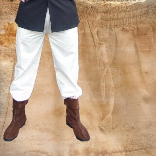 Hand-woven Trousers S, blue-white