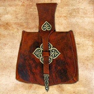 Birka-Tasche der Wikinger, mit Beschlägen - schwarz